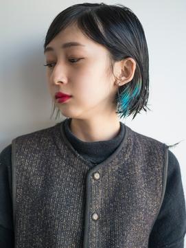 【SOCO】ケアブリーチポイントブルーインナーカラー