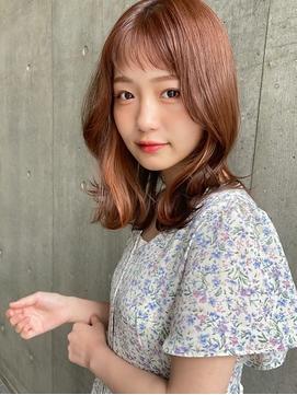 20代30代韓国ヘアふんわりくびれエアリーミデイアム短め前髪