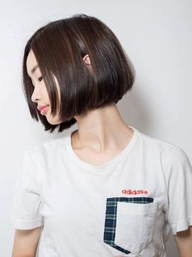 【THREE by KEEP 三橋】黒髪ワンレンボブ×前髪なし