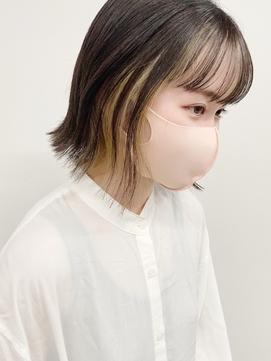【voiceco.心斎橋】インナーカラーボブ