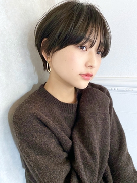 【December】大人かわいい黒髪マッシュショート♪