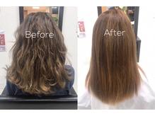 薬剤を全く使用せず髪質改善ハリスノフストレートトリートメント