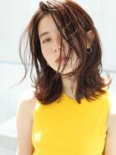 《AWESOME》ニュアンスミディ×ピンクオレンジカラー.31