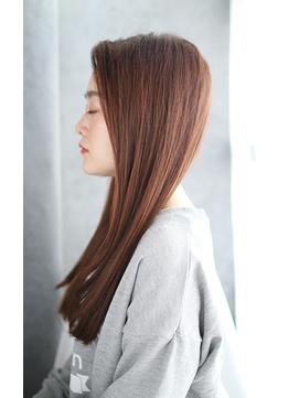 前髪イメチェンくびれイヤリングカラー美髪ラベンダーカラー/032
