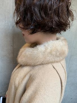 bibito デジタルパーマ 美髪マニッシュなソバージュフレンチボブ