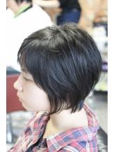 大学生大人ガーリーなショート×黒髪 大学生.51
