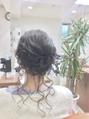おくれ毛でルーズに♪フェミニン編み込みアップ Celeste荻窪
