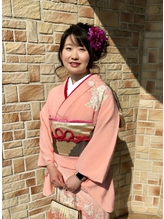 サイドのボリュームでキュートな小顔アレンジ☆.14