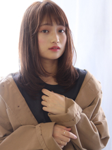 【bouquet】ツヤ感アッシュ×ワンカールセミディ.25