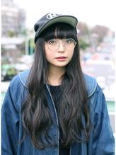 【DECO】メガネ女子☆グレージュロング メガネ.38