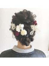 LiLy hair design リボンお花ヘア.14