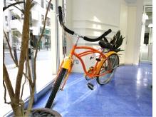 海辺に自転車をイメージ! 開放的な店内!! 海は落ち着きます!
