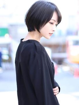 大人ミディアム髪型【20代30代40代】ストレートパーマ