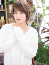 *+COVER HAIR+*…自然体の魅力♪万能ショートボブb 小頭.50
