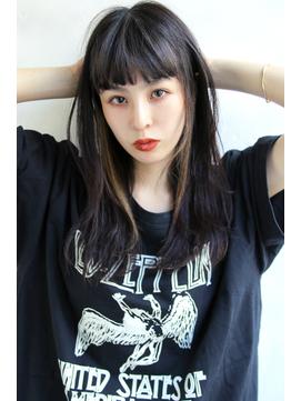 【Blanc/梅田】3Dカラー/インナーカラー/黒髪セミロング ng