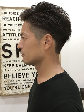 短髪 ツーブロック 束感