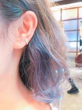 インナーカラー×グレイッシュブルー&パープル .2