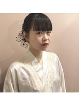 卒業式ヘア ヘアアレンジ まとめ髪 ぱっつん.18