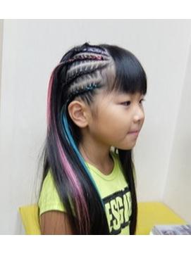 子供ダンスヘア☆イベントヘア☆コーンロウ・キッズダンサー☆