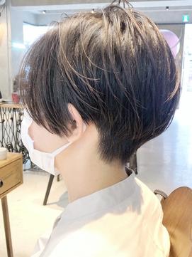 20代30代40代  黒髪 ツーブロック ハンサムショート【ROJITHA】
