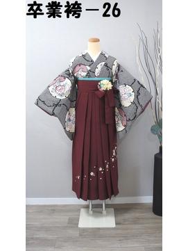 レンタル番号 卒業袴-26(短袖)(袴、帯色選択可)