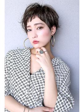 【Blanc/浜松】エアリーショート/斜めバング/アシメショート
