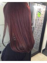 [vicushair]春髪「ローズピンク」×ワンカールセミロング .12