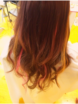 春です!女子力upのふわふわピンクとオレンジメッシュ☆彡