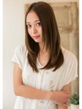 小顔レイヤー★センターパートフェミニンロブ モード系.48