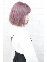 ボブヘアピンクカラー春カラー.35