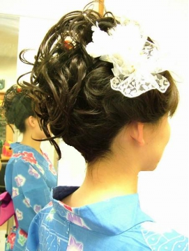 だきあわせ【お団子×花飾り】ヘアセット♪♪