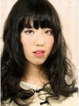 黒髪セミディ JK.37