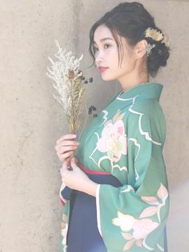 ○【自由が丘Neolive 】卒業式 袴着付けヘアセット¥13200 着物