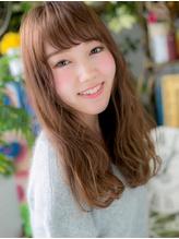 *COVER HAIR*斜めバングが大人かわいい♪ヌーディロングa .11