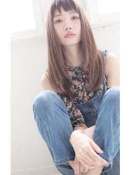 美髪×レイヤーカット×韓国風ぱっつん前髪
