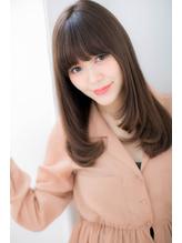 *LOREN*小顔ワイドバング暗髪モーブカラー美髪ストレート .48