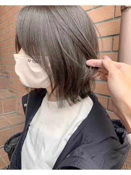 【katachi】マットベージュ オリーブ 春夏 ボブ