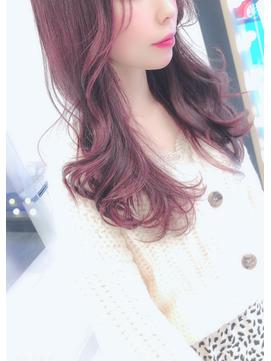 『ローズピンクで演出する』韓国風レイヤーカット×ローズピンク