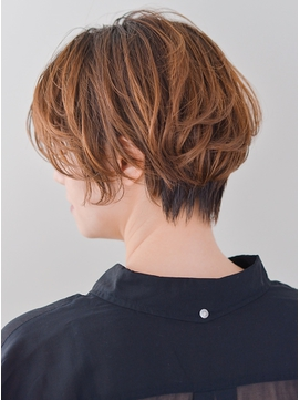 小顔クールショートボブルフxピンクベージュxモテ髪カタログ 703