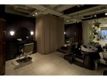 ゆったりくつろげる癒しの空間。個室のヘッドスパ専用ルーム