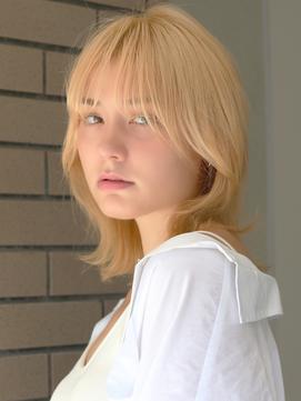 【nex表参道】ハイトーンカラー 金髪ショート ボブ