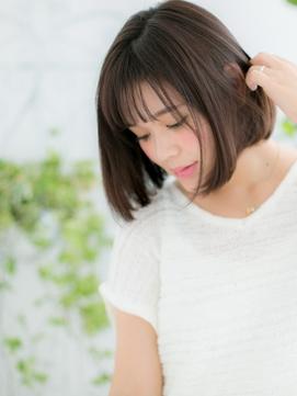 【錦糸町美容院Agate】シースルー前髪の知的女子♪前下がりボブb