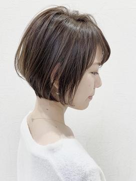 くびれラベンダーカラー前髪イメチェンイヤリングカラー【稲毛】