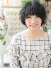 *bliss大宮*くせ毛風ゆるふわガーリー★黒髪マッシュショートa.6