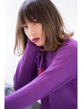 【BLANC】外ハネも可愛い☆ナチュラルなセミディスタイル♪ モイストカラー.45