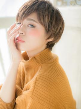 【シエル松戸】個性的インナーカラーで小顔ワンサイドショートa