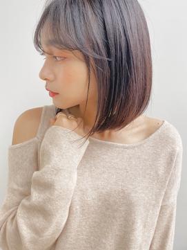 【garden 佐藤真希】小顔可愛いナチュラルロングボブ×長め前髪