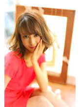 """【RUCE】外国人風大人かわいい""""重めボブミディ""""ボブ小顔カット まとめ髪.57"""