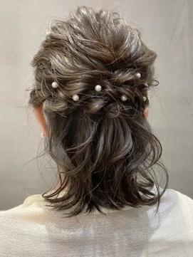 【AUBE HAIR】ハーフアップアレンジ