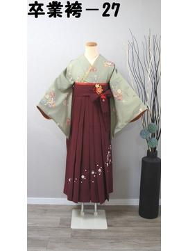 レンタル番号 卒業袴-27(短袖)(袴、帯色選択可)